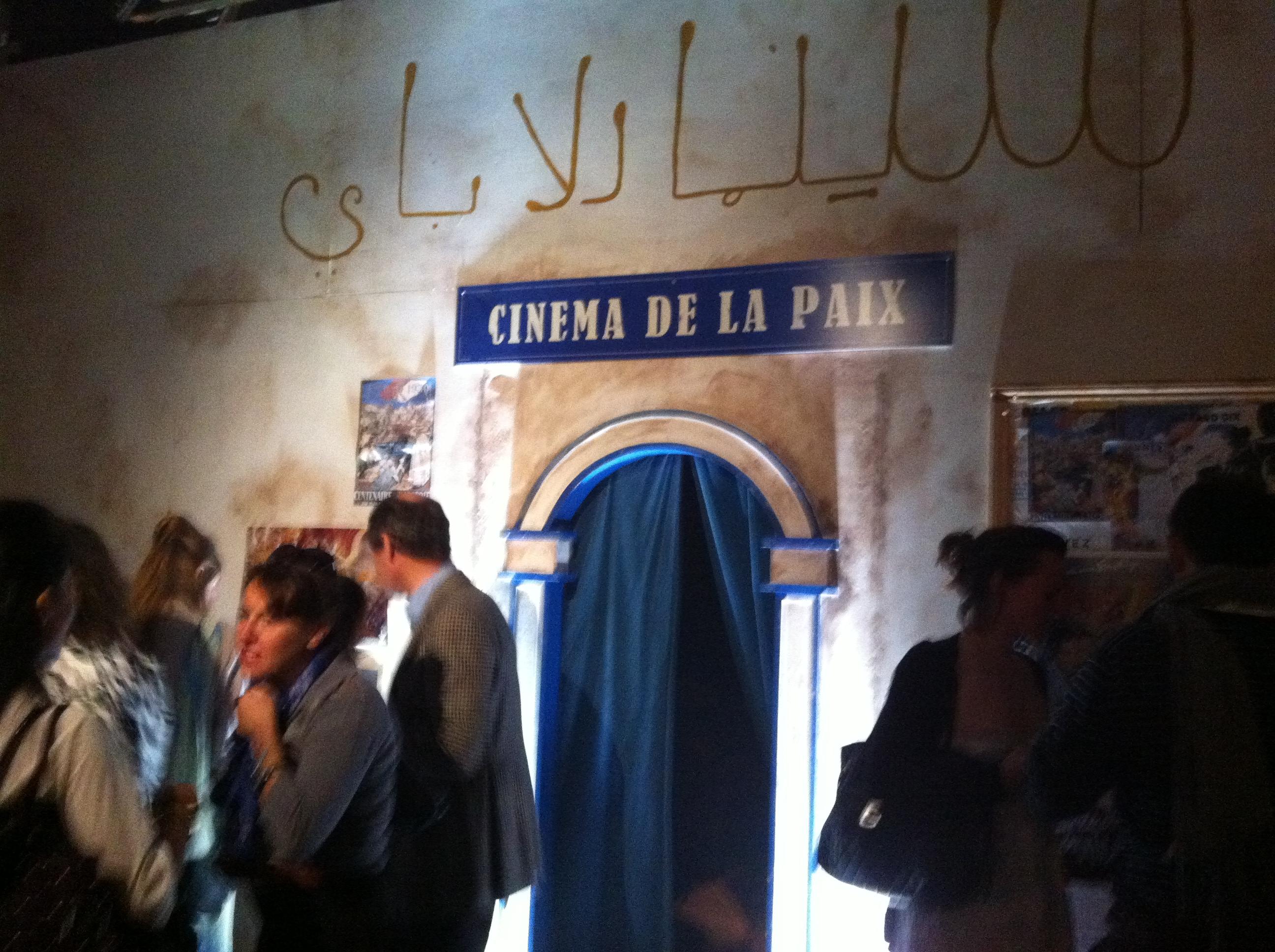 Secret Cinema's screening room for The Battle of Algiers