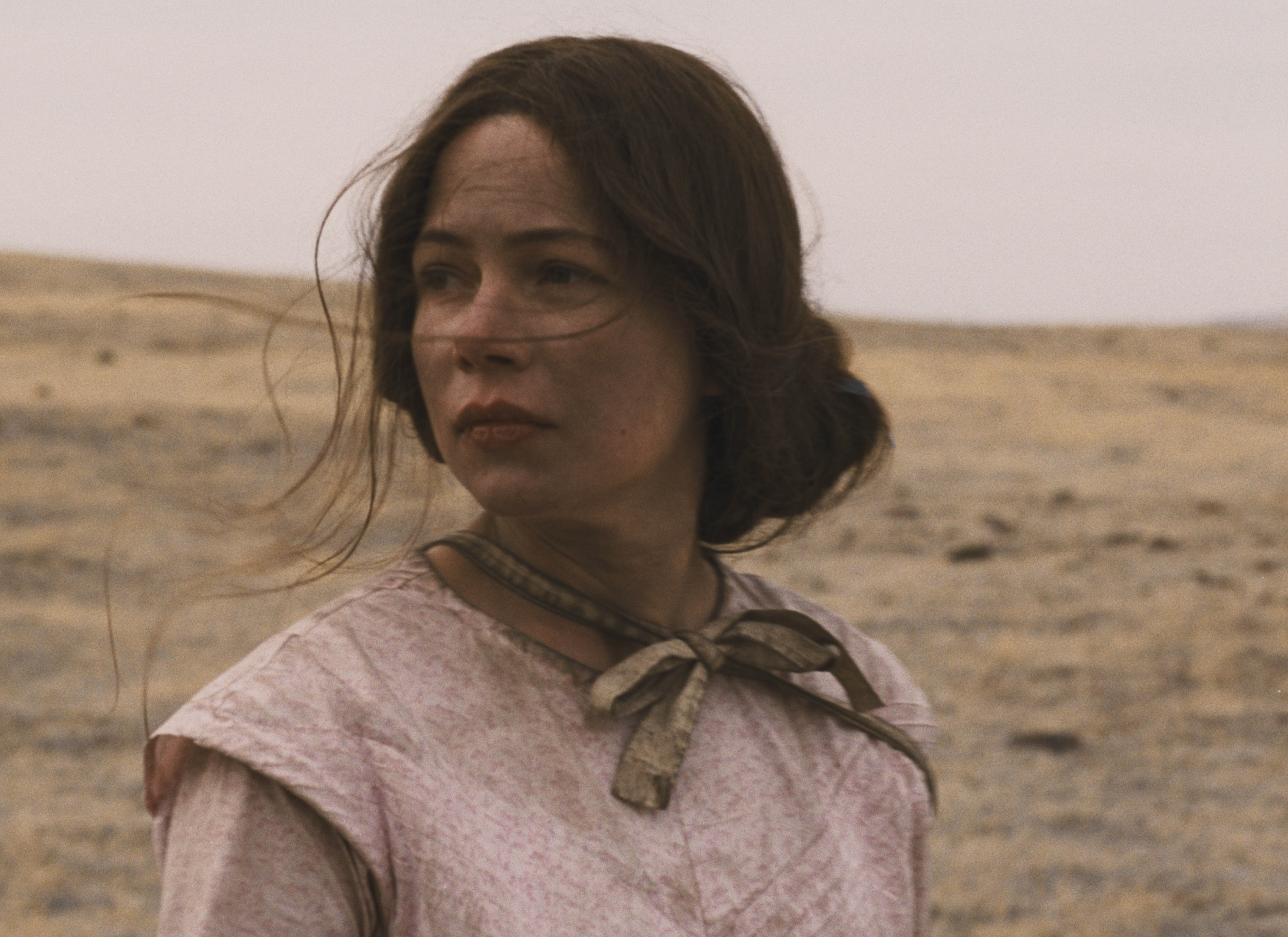 Michelle Williams plays Emily Tetherow in Meek's Cutoff