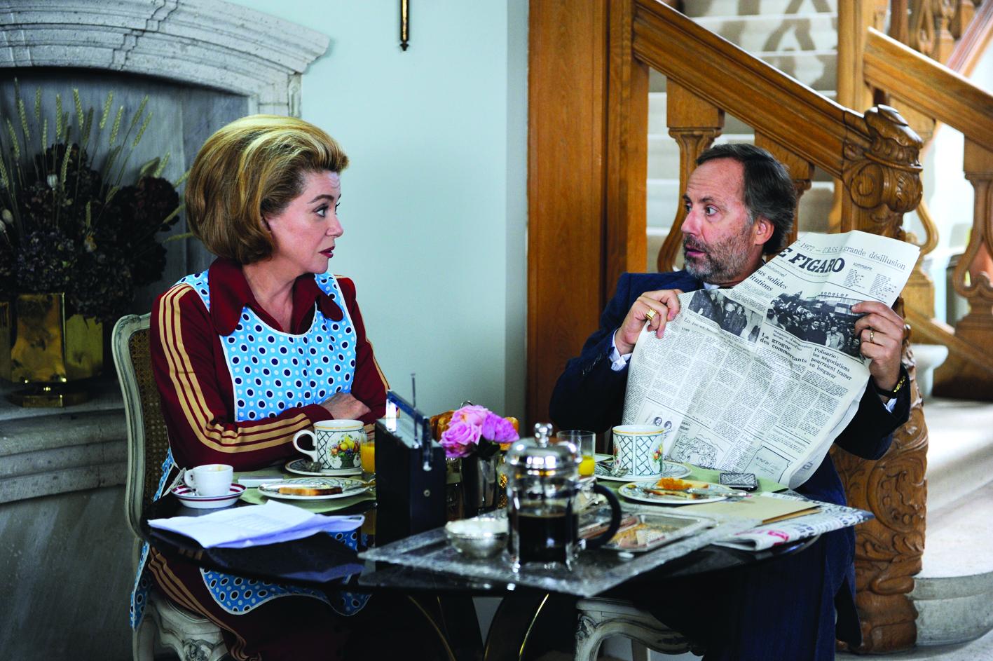 Catherine Deneuve and Fabrice Luchini in Potiche