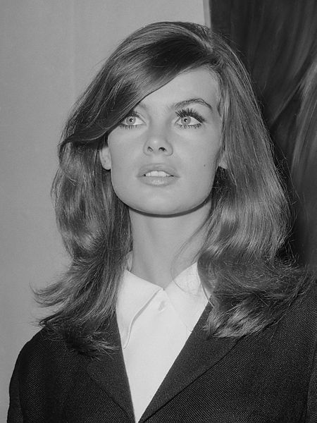 Model Jean Shrimpton in 1965 (pic Joost Evers / Anefo)