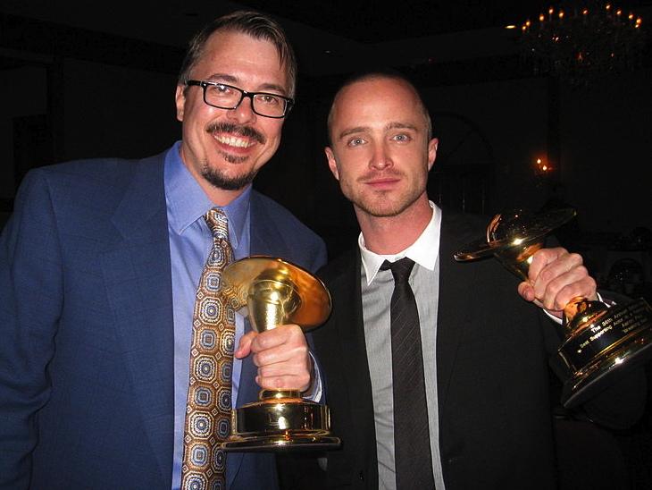 Breaking Bad creator Vince_Gilligan_and_Aaron_Paul (pic Tomas N Romero)
