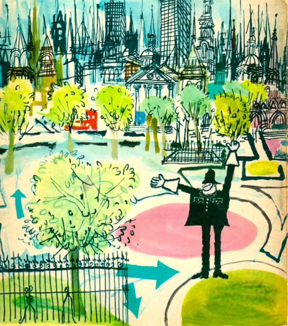 Exploring London, 1965, back cover