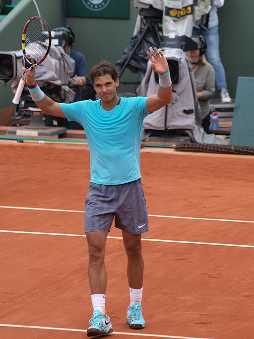 Nadal wins in Paris in 2014 (pic By François GOGLINS (Own work)